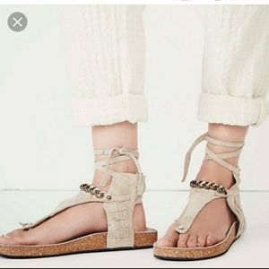 Free People Collins Tan/Taupe sandals sz 38